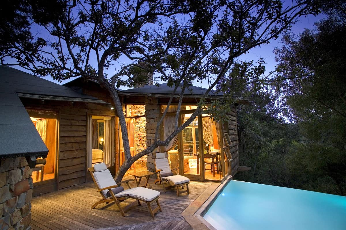 treehouse hotel in south africa lion sands game reserve