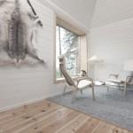treehotel sweden Blue Cone interior