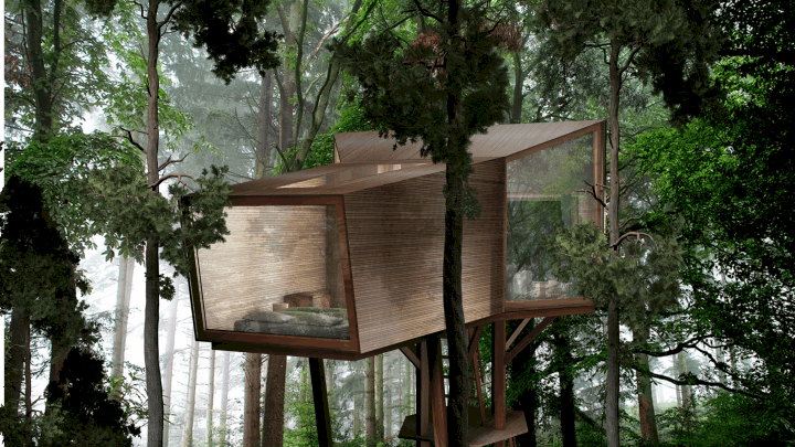 Treehouse Concept The Inhabit Treehouse Lets You Sleep