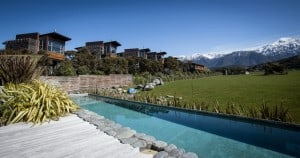 Treehotel in new zealand - Hapuku Lodge & Tree Houses pool view