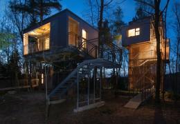 Tree house hotel in Austria: Baumhaus Lodge Schrems