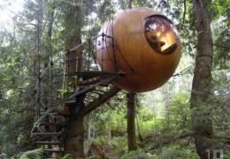 Tree house hotel in Canada: Free Spirit Spheres