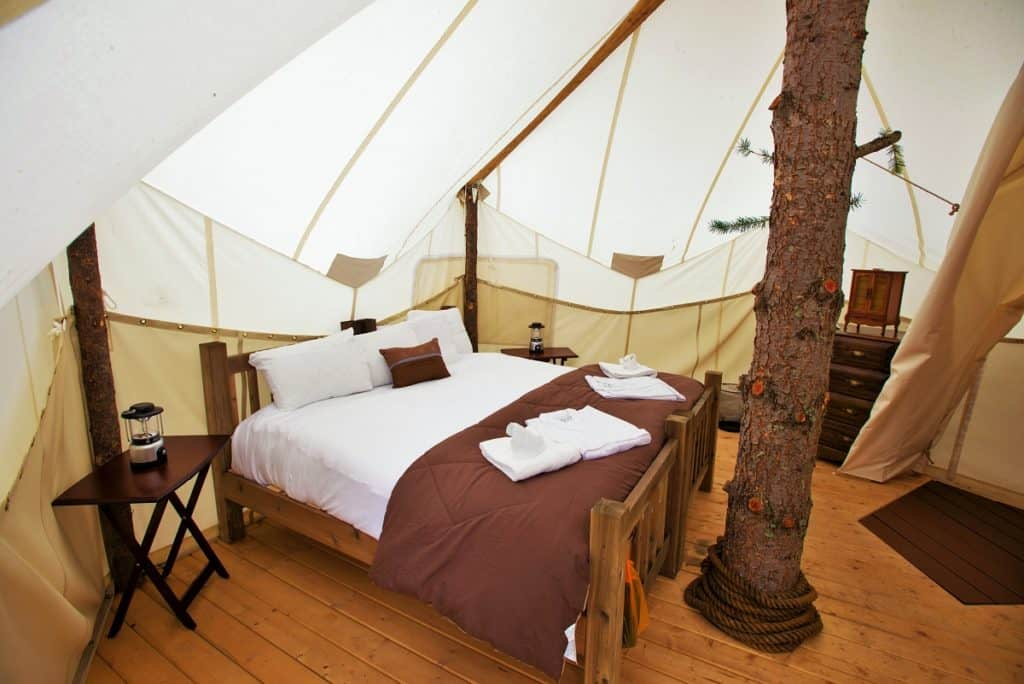 Tree House Hotel In The Us Glacier Under Canvas Treehouse