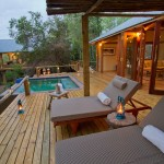 Luxury Tongabezi hotel deck in africa