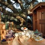 breakfast at La Piantata Black Cabin Treehouse