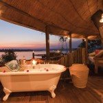 Luxury treehotel bathtub in africa