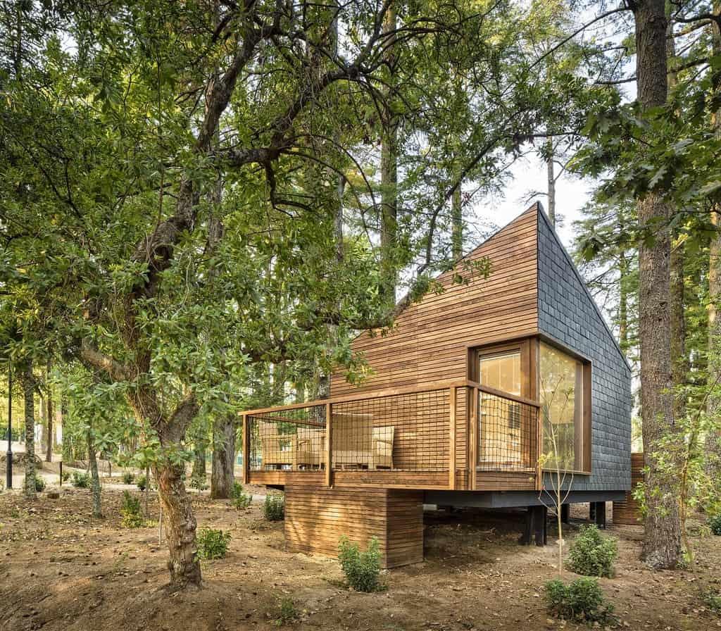 Treehouse Hotel In Portugal Pedras Salgadas Spa Nature