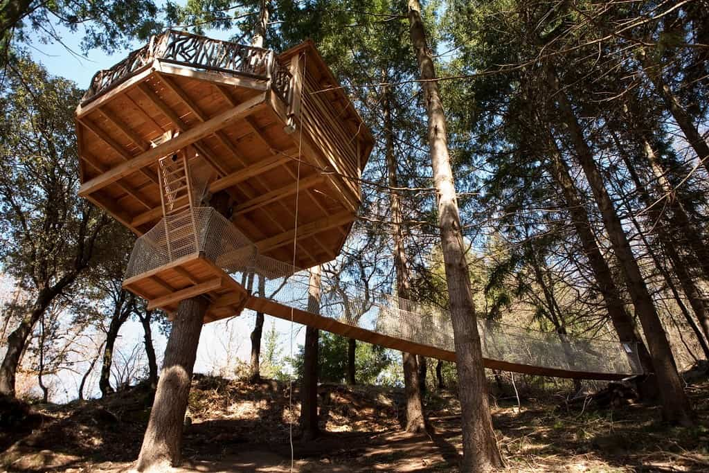 Treehouse Hotel In Spain Cabanes Als Arbres Treehouse Map