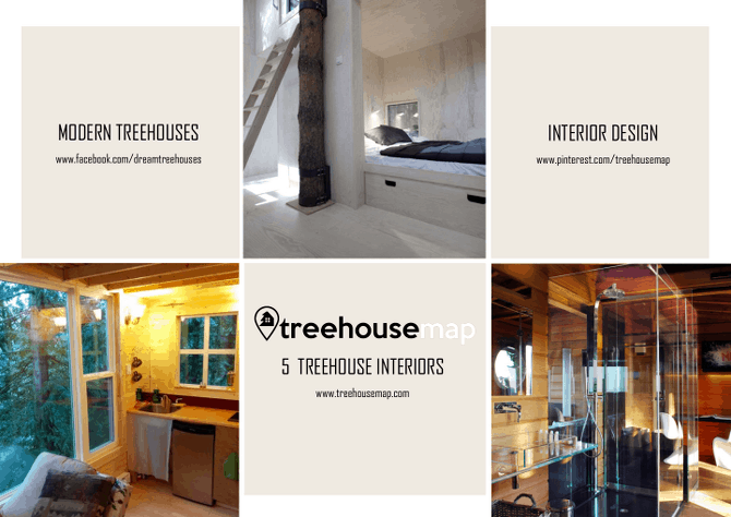 5 ultramodern treehouse and tree house hotel interior designs