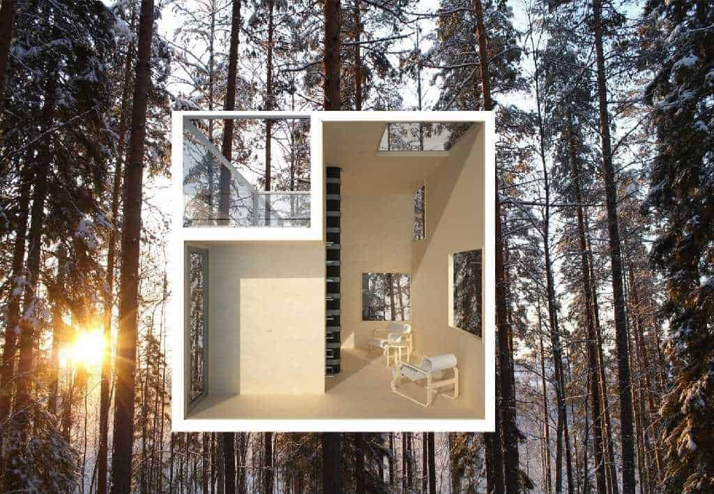 Treehotel In Sweden The Mirrorcube Treehouse Map